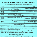 Date Sheet Rehearsal Exams (Boys/Girls) XI-XII 2016-2017