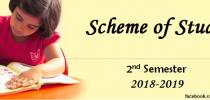 2nd Semester Scheme of Studies (2018-2019)