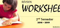 Revision Worksheets (2nd Semester – 2018-2019)