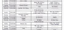 Date Sheet Rehearsal (XI-XII) & 2nd Semester (Pre-IX) Exams 2019-20
