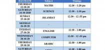 Date Sheet for Mid Terms Examinations (I to VII)