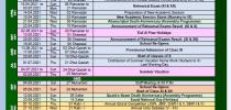 Academic Calendar of Events (2021-2022)